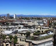 Milan, aerial view stock photo