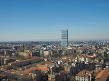 Milan aerial view Royalty Free Stock Photography