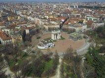 Milan aerial view Royalty Free Stock Image