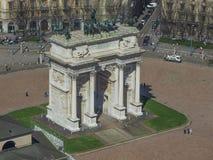 Milan aerial view Stock Image