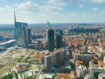 Milan aerial view. Milano city, Italy Royalty Free Stock Photo