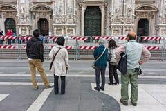 Milan, ajustent cordoned photographie stock libre de droits