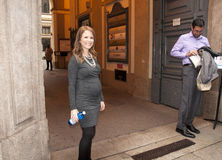 Milan,the American novelist  kristin Harmel to bookcity Stock Photography