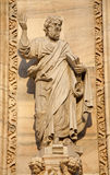 Milan - apostle statue from facade of Dom Stock Photography