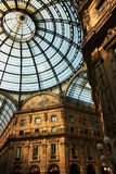 Milan arcade. The roof of the Galleria Vittorio Emanuele, a glass arcade in Milan, Italy Stock Image