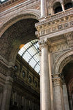Milan arcade. Close up on the roof of Vittorio Emanuele arcade in Milan . Italy stock images