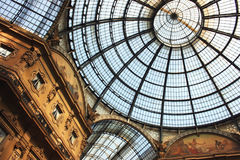 Milan arcade. Close up on the roof of Vittorio Emanuele arcade in Milan . Italy Stock Photo