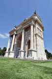 Milan - Arch of Peace. Milan, Piazza Sempione - Arch of peace Restored Stock Images