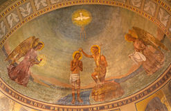 Milan - Baptism of Christ - from San Agostino Royalty Free Stock Photo