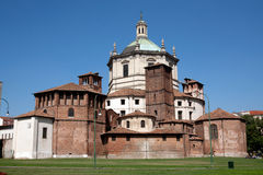 Milan - Basilica of San Lorenzo. Back side view Royalty Free Stock Photo