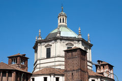 Milan - Basilica of San Lorenzo, dome on an octagonal drum Royalty Free Stock Photo