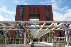 Milan -the Bicocca University at spring Stock Photography