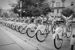 Milan bicycle rental Stock Image