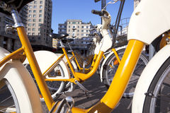 Milan bicycles Stock Image