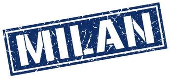 Milan blue square stamp Stock Image