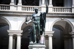 Milan, Brera akademi och galleri Napoleon Statue Royaltyfri Foto