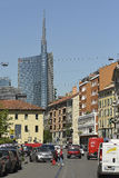 Milan Brera district new and old city contrast Royalty Free Stock Images