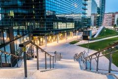 Milan Business område assisinuovaporta umbria Italien, Royaltyfri Bild