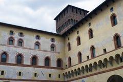 Milan: Castello Sforzesco, court Royalty Free Stock Image