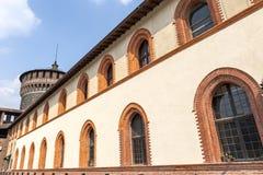 Milan, Castello Sforzesco Stock Image