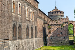 Milan, Castello Sforzesco Stock Photography