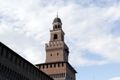 The milan castello sforzesco main tower Stock Photography