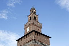 The milan castello sforzesco main tower Royalty Free Stock Photography