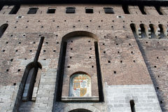 The milan castello sforzesco main walls Royalty Free Stock Photography