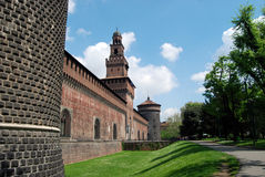 Milan - Castello Sforzesco, Sforza Castle Royalty Free Stock Photo