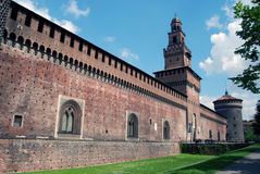 Milan - Castello Sforzesco, Sforza Castle. Castello Sforzesco (Sforza Castle) is a castle in Milan, Italy that now houses several of the city's museum and art royalty free stock images
