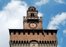 Milan - Castello Sforzesco, Sforza Castle Royalty Free Stock Image