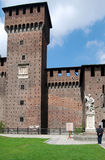 Milan - Castello Sforzesco, Sforza Castle Stock Photos