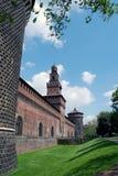 Milan - Castello Sforzesco, Sforza Castle stock images