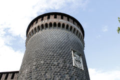 The milan castello sforzesco tower Royalty Free Stock Photo