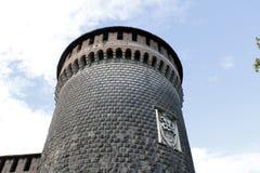 The milan castello sforzesco tower Royalty Free Stock Photo