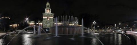 Milan castle stock photography