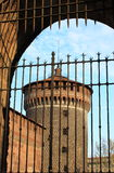 Milan castle bastion Royalty Free Stock Photo
