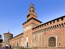Milan Castle Close Day fotografia stock
