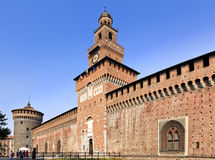 Milan Castle Close Day Stock Photography