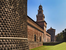 Milan Castle Left Side Stock Photography