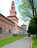 Milan castle of sforza Stock Photo