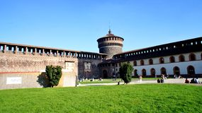 Milan castle Royalty Free Stock Image
