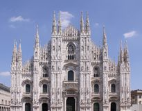 Milan cathedral. Milan catholic cathedral - front view of the central nave Royalty Free Stock Photos