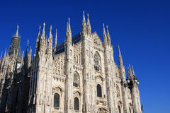 Milan Cathedral. (Duomo di Milano) church in the center of Milan, Italy stock image