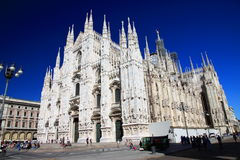 Milan Cathedral. A view of the Duomo in Milan, Italty Royalty Free Stock Image