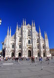 Milan Cathedral. A view of the famous Duomo in Milan, Italty Royalty Free Stock Photos