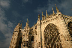 Milan Cathedral. The famous Duomo in Milan,a gothic cathedral dating back to the 13th century stock photo