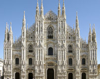 Milan Cathedral. Front view of the Gothic Cathedral of Milan, Italy Stock Photography