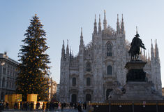 Milan Cathedral al Natale Immagine Stock