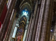 Milan Cathedral Columns Royaltyfri Fotografi